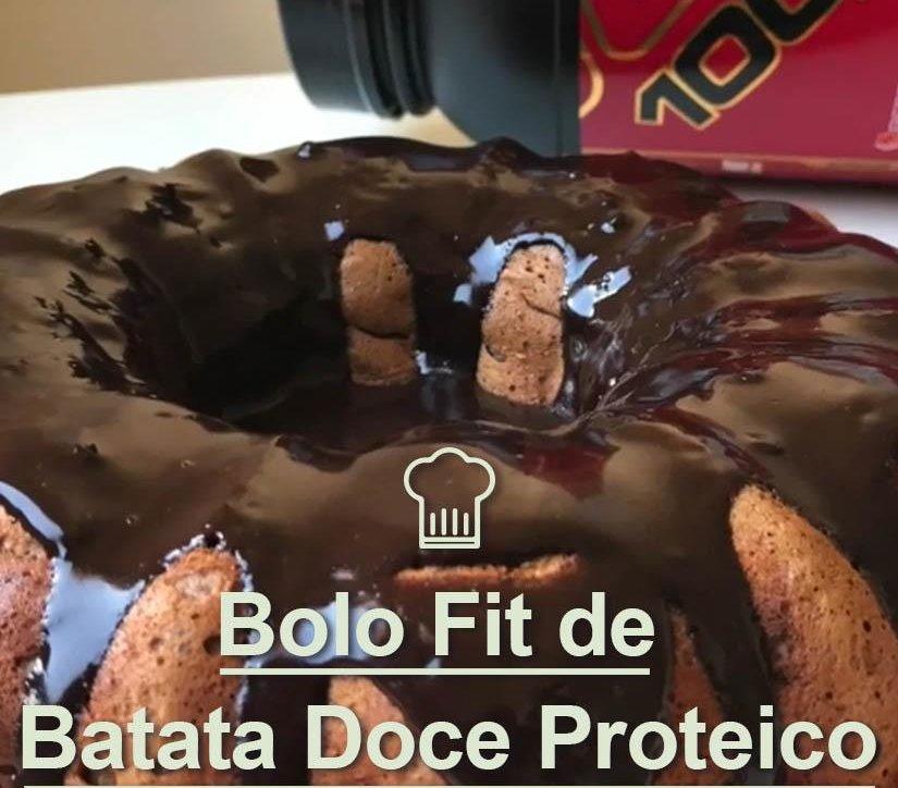 BOLO FIT DE BATATA DOCE PROTEICO, SEM GLÚTEN E LACTOSE