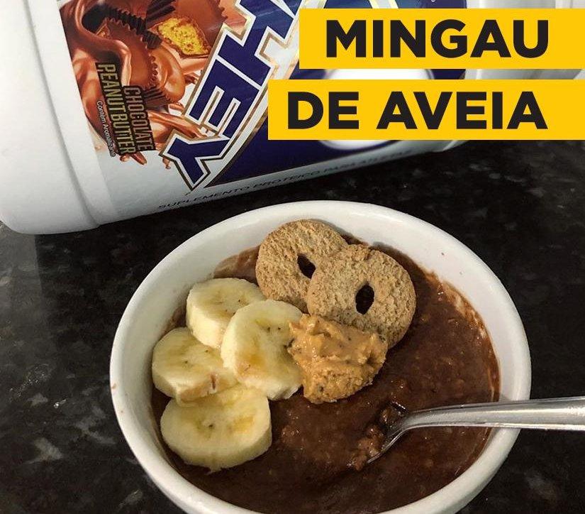 MINGAU DE AVEIA COM WHEY