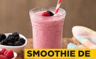 Smoothie de frutas vermelhas com proteína