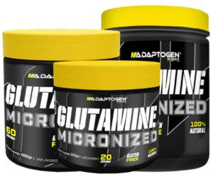 Glutamina micronizada tamanhos