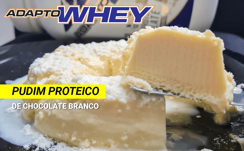 Pudim proteico de chocolate branco com Adapto Whey